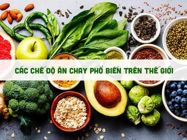 Chế độ ăn chay phổ biến trên thế giới