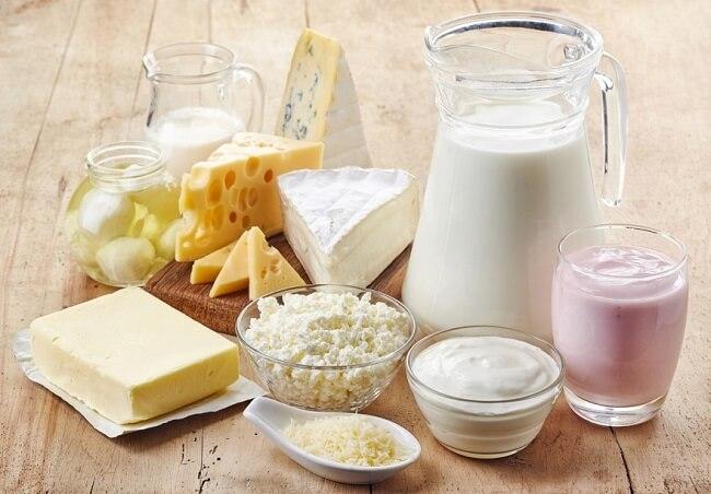 Sữa ít béo và các sản phẩm từ sữa