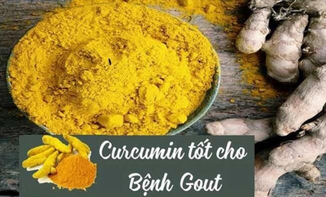 Curcumin chữa bệnh gout